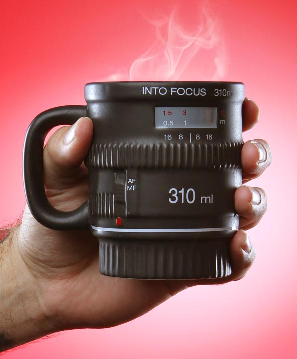 Into Focus DSLR Camera Lens Coffee Mug