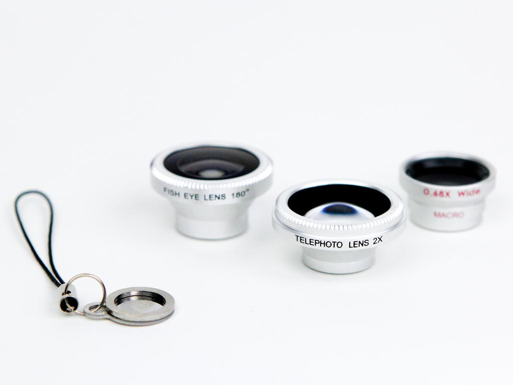 Macro, Fisheye, Telephoto and Wide Angle Phone Lenses
