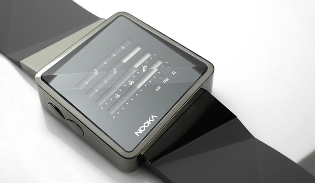Nooka Zizm digital watch is available in two colors, including blue ...