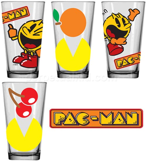 Pacman Pint Glass Set