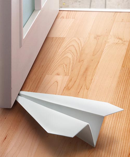 Paper Airplane Styled Doorstop
