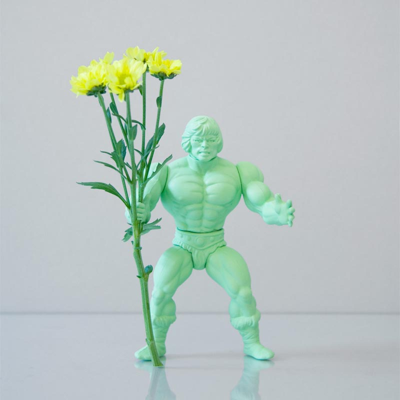 Power Flower Action Figure Styled Vase Gadgetsin