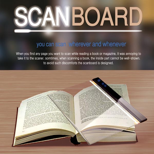 scan board  a concept scanner for books