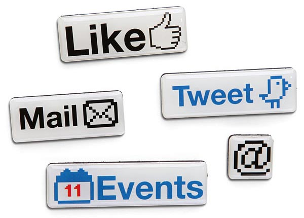 Social Media Fridge Magnet Set