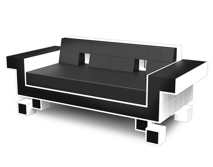 Space Invaders Styled Couch