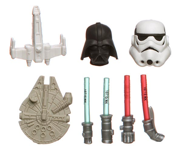 Star Wars Themed Eraser Set