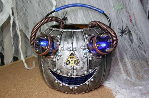 Steampunk Pumpkins for the Upcoming Halloween