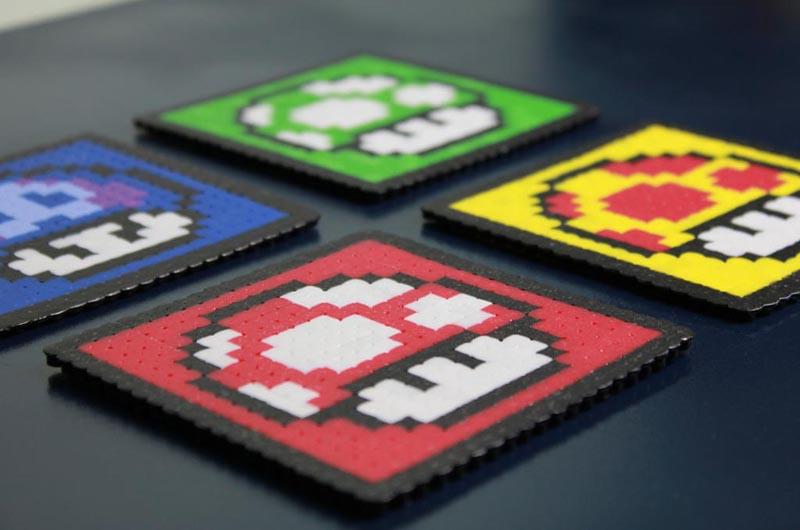 Super Mario Mushroom Coaster Set