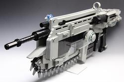 Gears of War Lancer Assault Rifle Made with LEGO Bricks