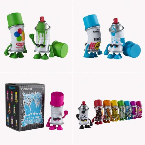 Kidrobot Bent World Spray Can Mini Figure Series