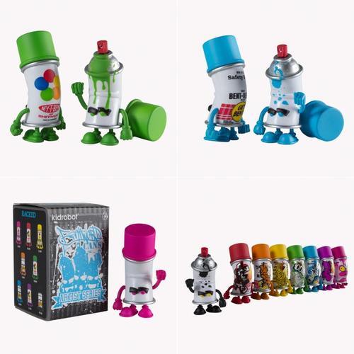 Kidrobot Bent World Spray Can Mini Figure Series