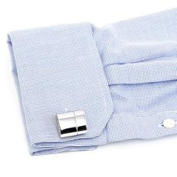 Polished Silver WiFi Hotspot and USB Flash Drive Cufflinks
