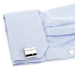 Polished Silver WiFi Hotspot and USB Flash Drive Cufflinks