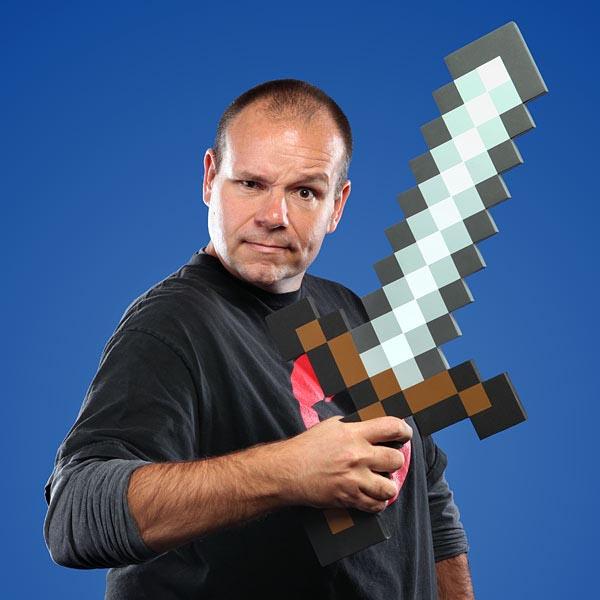 8-Bit Foam Sword from Minecraft