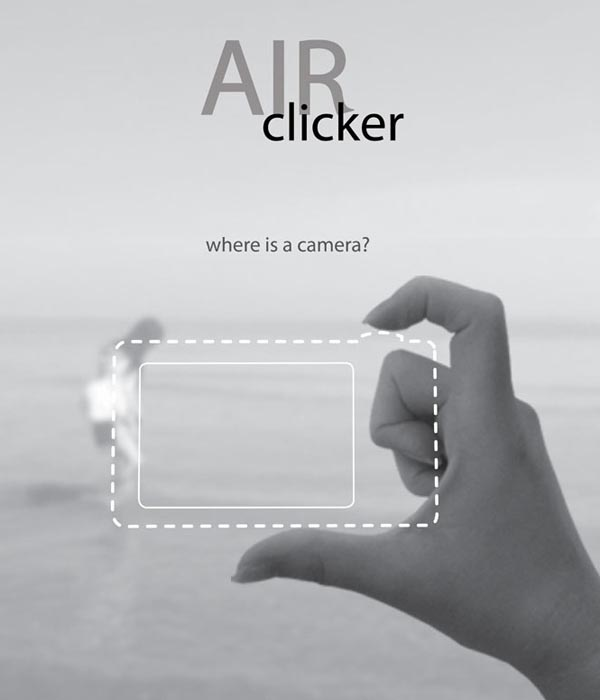 Air Clicker Digital Camera Design Concept