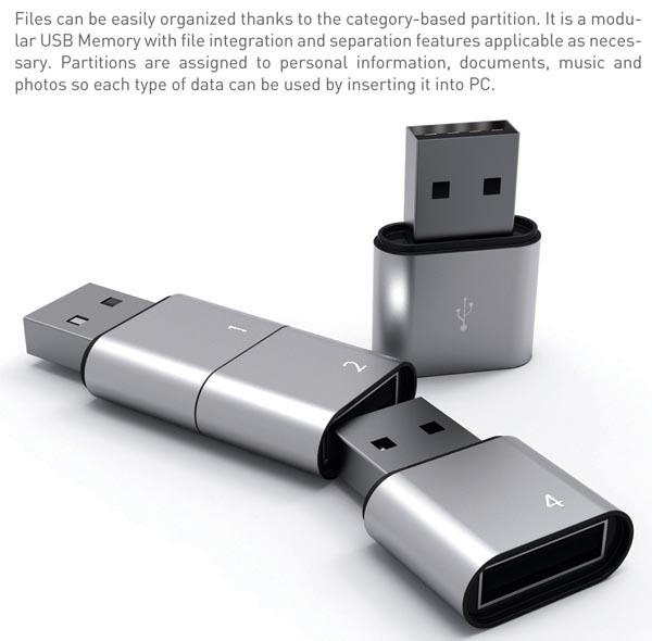 Amoeba Modular USB Flash Drive