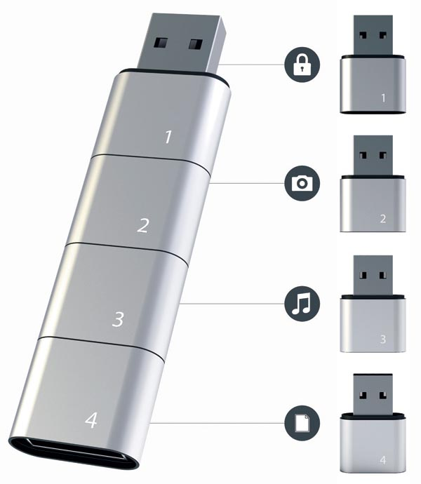 Amoeba Modular USB Flash Drive