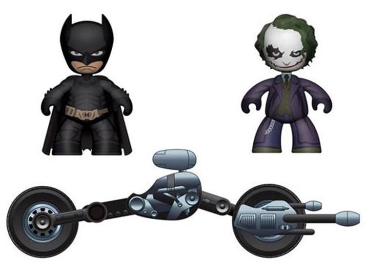 Batman Mez-Itz Mini Figure with Tumbler or Batpod Batmobile