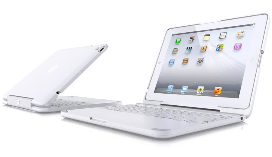 ClamCase White iPad 2 Keyboard Case