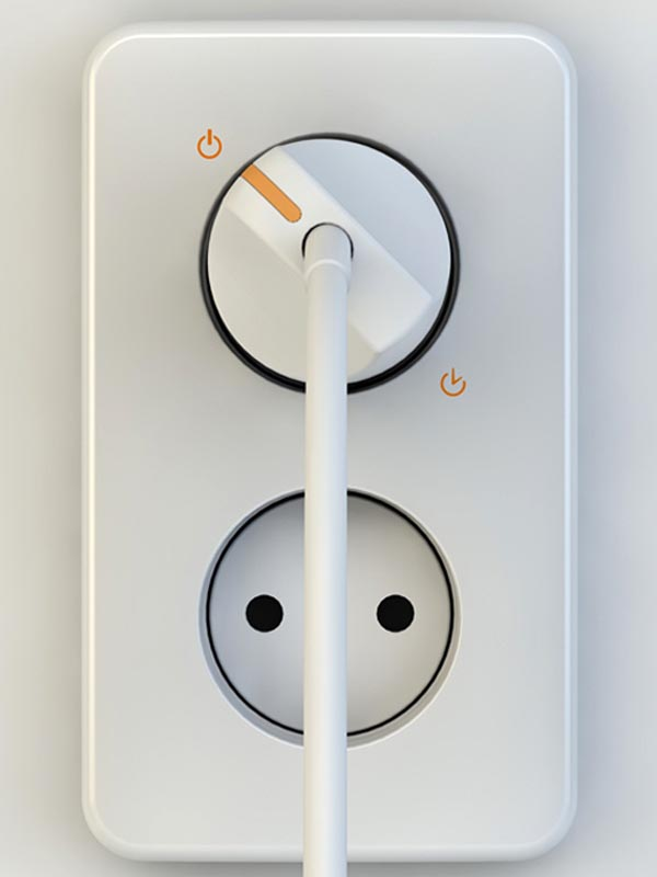Dialug Concept Wall Outlet with Integrated Timer