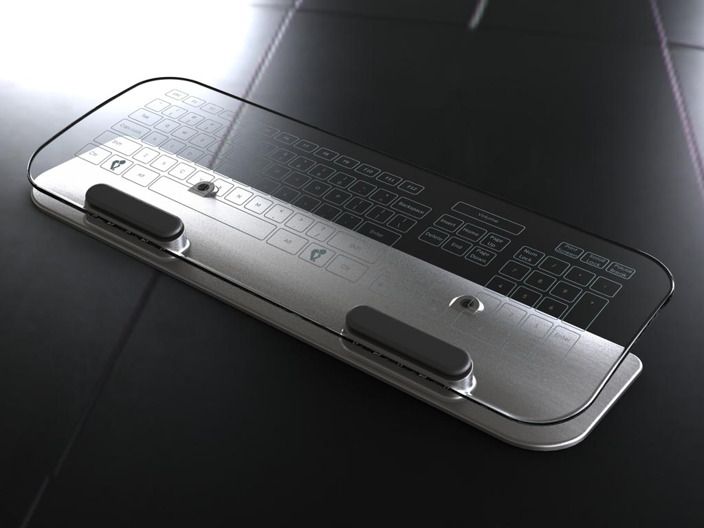 Glass Multi Touch Keyboard And Mouse Gadgetsin