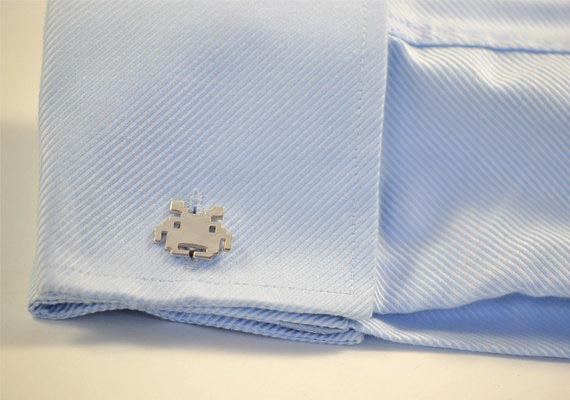 Handmade Space Invaders Cufflinks