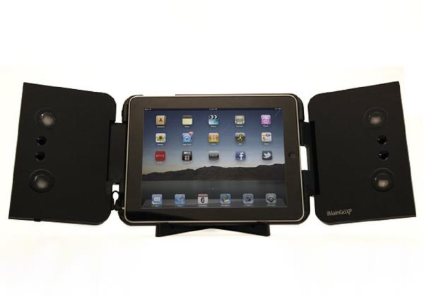 iMainGo XP Protective Case with Portable Speaker for iPad 2 and Original iPad
