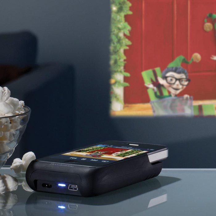 iPhone 4 Battery Case with Pocket Projector