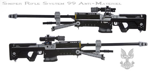 Life-Sized Halo Sniper Rifle Built with LEGO Bricks