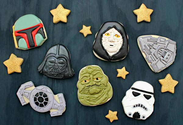 Make Star Wars Cookies with Holiday Cookie Cutters