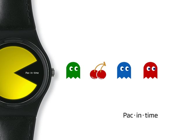 Pacman Themed Pac-in-time Concept Watch