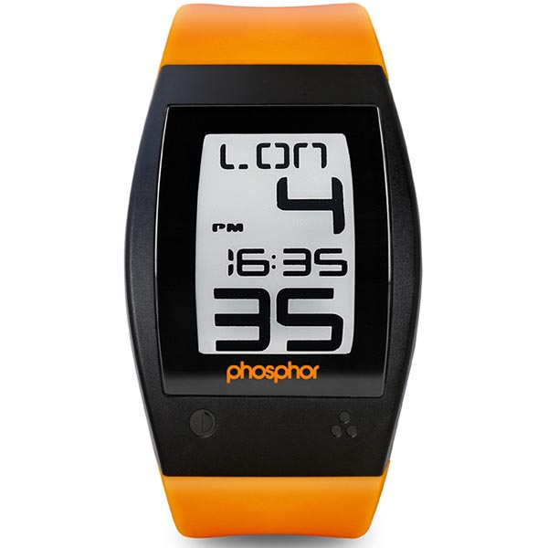 Phosphor World Time Sport E-Ink Digital Watch
