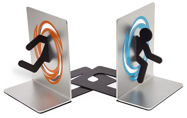 Portal Themed Bookends