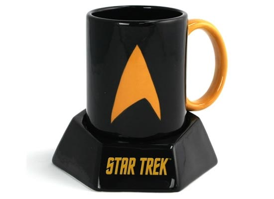 Star Trek Mug with Transporter Sound Effect Coaster