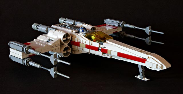 Star Wars X-Wing Starfighter Built with LEGO Bricks