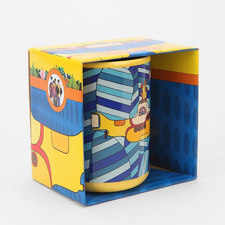 The Beatles Mug with Yellow Submarine Graphic