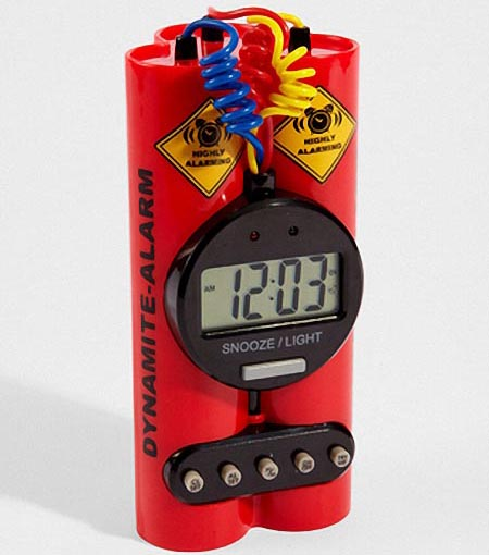 Timebomb Styled Alarm Clock