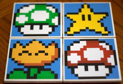 Super Mario Themed Drink Coaster Set