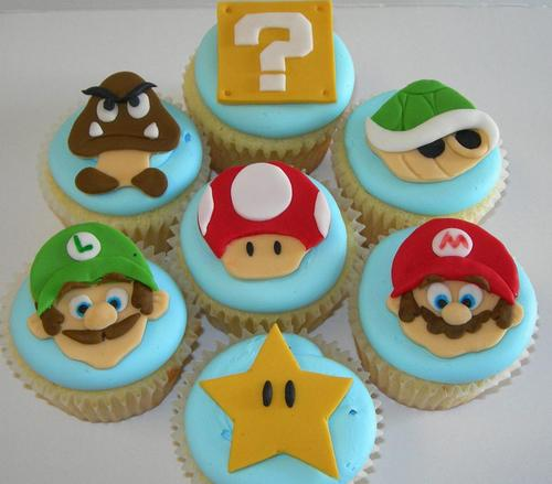 Super Mario Cookie and Cupcake Toppers