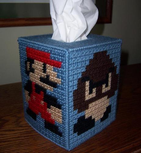 Super Mario Themed Tissue Box Cover