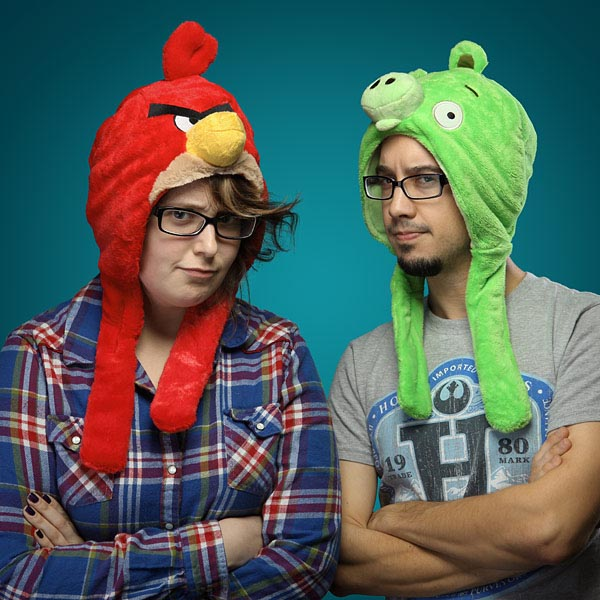 Angry Birds Styled Plush Hats