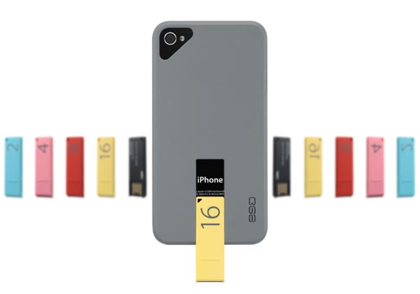 ego USB Case- An iPhone 4S Case with USB Flash Drive