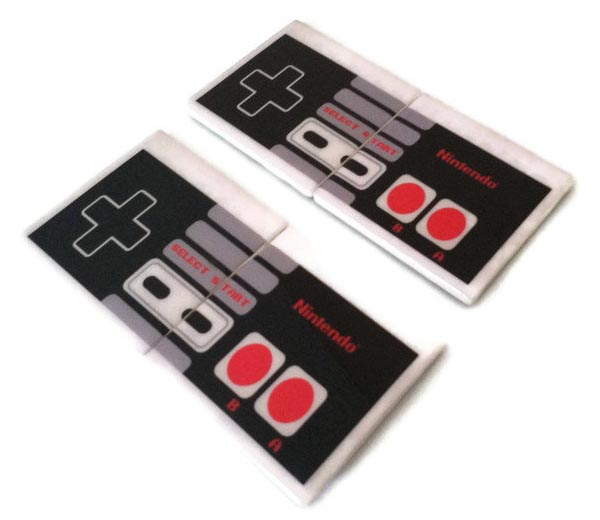 Handmade NES Game Controller Coaster Set