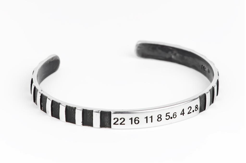 Handmade Sterling Lens Cuff