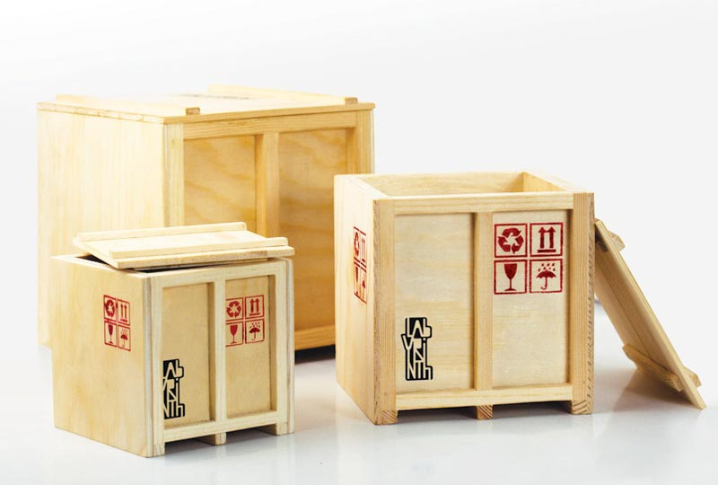 Inbox Mini Cargo Crate Shaped Desk Organizer