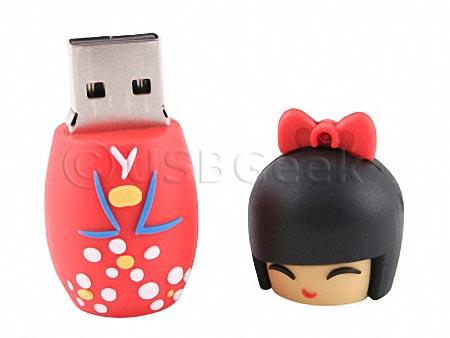 Japanese Doll USB Flash Drive