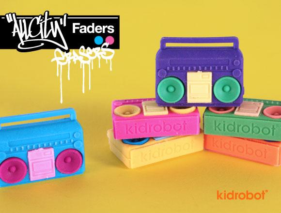 Kidrobot All City Boombox Eraser Set