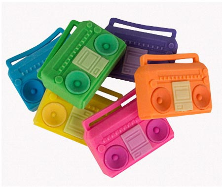 Kidrobot All City Boombox Eraser Set
