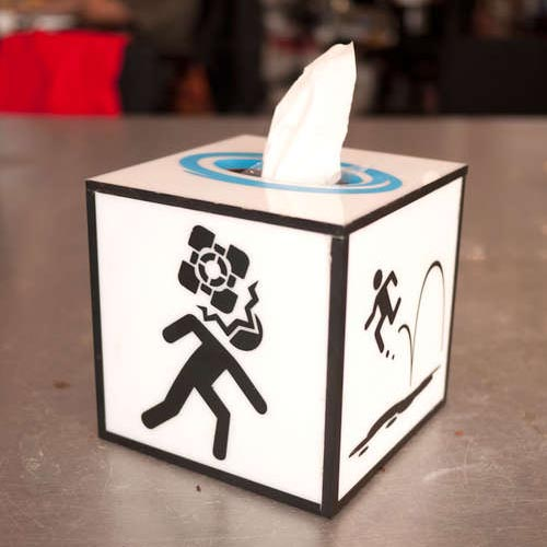 Make Your Own Portal Tissue Box
