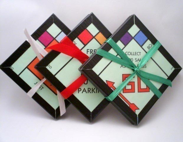 Monopoly Board Game Coaster Set